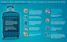 Saiba o que você pode ou não levar na bagagem de mão