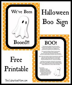 halloween boo sign free printable and ideas - Pinterest Halloween Printables