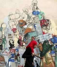 Graffiti al Cairo. Ecco come sono stati immortalati i martiri della Primavera Araba. (Reuters)