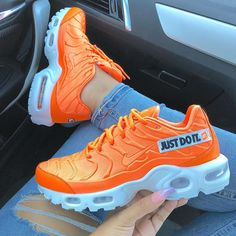 meet 1b593 80a0d Nike orange sneakers. Follow for more! Pinterest   selfcareoverload Orange  Sneakers, Orange