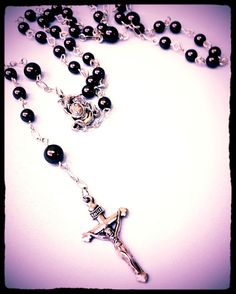 This rosary is inspired by the Catholic five decade design.  It features five groups of beads with each group representing a decade.  This great class is on this evening April 4 @ 6 pm PoCo Inspired 495 D Madison St. (204) 219-2528 http://pocoinspired.com/workshops/ #pocoinspired #semiprecious #crystals #jewellery #winnipeg #beadstore #localbeadshop #buylocal #jewellerymaking #handmade #jewelleryclass