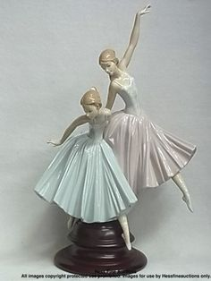 HUGE Lladro Merry Ballet Ballerinas Porcelain China Figurine Statue Retired