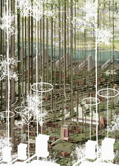 The Re-imagination of the by Damien Assini Bartlett graduate 2017 Bartlett School Of Architecture, Architecture Collage, Architecture Visualization, Architecture Drawings, Landscape Architecture, Landscape Design, Architecture Design, Conceptual Architecture, Design Architect