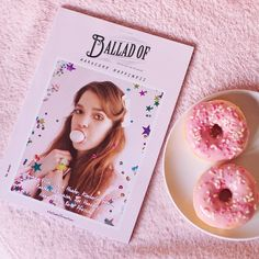 Such a pretty issue! <3 (I've become secretly obsessed with pink) #magazine #pink #balladofmagazine #balladof #donuts #cute