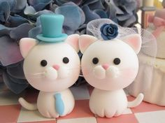 Double Cat Polymer Clay. $12.70, via Etsy.