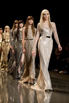 Flood at Ellie Saab F/ W 2012 Fashion Week Paris...all that glitters.