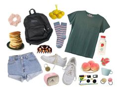 """""""adventerous mornings"""" by kampow ❤ liked on Polyvore featuring Hanley, Pier 1 Imports, Levi's, H&M, NIKE, Arabia, Forever 21, FRUIT and Jayson Home"""