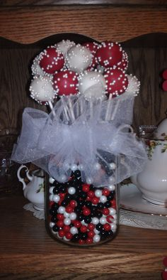 Cake pop bouquet. @Angela Mattingly
