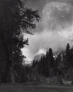 Ansel Adams, El Capitan, Sunrise, Winter,Yosemite National Park, CA, 1968