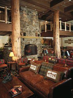 Lobby at Teton Club Resort, Jackson Hole, Wyoming