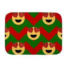 christmas heart eye emoji Baby Blanket