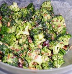 Easy Broccoli Salad Recipe, use sugar substitute and real mayo.  I'd try with Greek Yogurt instead of mayo to make it healthier  #salad #recipe