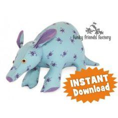 Artie Aardvark  INSTANT DOWNLOAD Sewing Pattern PDF
