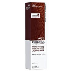 AGEbeautiful Anti-Aging Permanent Liqui-Creme Haircolor 3V Darkest Plum Brown