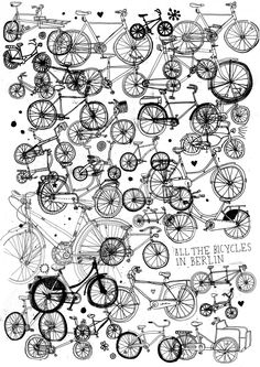 All the bicycles in Berlin