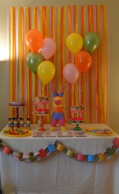 """Love the streamer background! Photo 1 of Dora and Diego / Birthday """"Dora Party"""" Kylie Birthday, 4th Birthday Parties, 3rd Birthday, Birthday Ideas, Baby Shower Deco, Dora The Explorer, Pirate Party, Unicorn Party, Party Planning"""