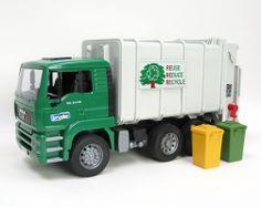 1/16th BRUDER MAN TGA Rear Loading Garbage Truck Toy Toys