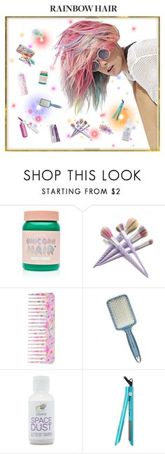 """""""#True Colors"""" by mpartist ❤ liked on Polyvore featuring beauty, Lime Crime, Hard Candy, Conair, Forever 21 and Brilliance New York"""