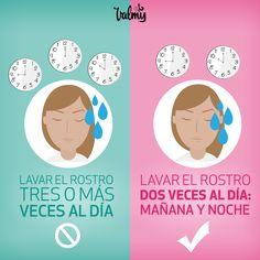 Debemos lavar nuestro rostro adecuadamente para tener una piel espectacular. #ConsejoDeBelleza #Belleza #Consejo #Tip #BeautyTip #Beauty #Mujer #Woman #Girls #Makeup #Valmy #Venezuela #Maquillaje #Skin #Piel #Do&Dont Tips Belleza, Makeup Tips, Make Up, Chart, Face, Beauty Tips, Venezuela, Fur, Women