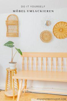 Aus Alt mach Neu: Möbel lackieren ist total easy, wenn man ein paar Tipps beachtet. Eine Upcycling Möglichkeit für alte Möbel. So klappts mit dem Lackieren Diy Interior, Home Interior Design, Decor Crafts, Home Crafts, Diy Home Decor, Diy Inspiration, Interior Inspiration, Diy Recycling, Spring Home Decor