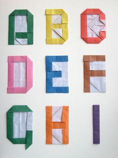 origami alphabet / atelier pour enfants