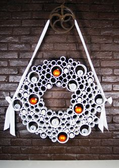PVC Pipe wreath CAN SWITCH OUT WITH SILK FLOWERS AND STUFF FOR THE SEASONS