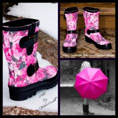 """❗️1-HOUR SALE❗️Black Buckle Rain Boots NEW WITH TAGS RETAIL PRICE: $70  Black Buckle Rain Boots   * Pull On style  * Solid Allover pink & black rose print w/soft black faux suede lining.   * Rubber cap toe, dual adjustable buckle strap detail, & PVC sole.   * Water resistant. Removable insole.   * About 10"""" high shaft & about a 15"""" circumstance opening.  Fabric: PVC Upper & Polyester Lining  Color: Black Item:   No Trades ✅ Offers Considered*✅ *Please use the blue 'offer' button to submit an…"""