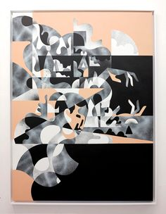 """Second State"" – James Reka. 2016 120 x 90 cm / Acrylic & Aerosol on 300gm Linen"