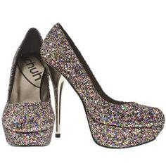 schuh prince court glitter high heels