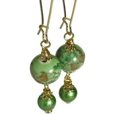 margarita green beaded earrings