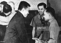 Pol Pot meets Deng Xiao Ping in Beijing, China, in 1974.