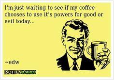 Coffee: good vs evil?