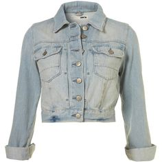 Petite Moto Bleached Denim Crop Jacket ($85) ❤ liked on Polyvore featuring outerwear, jackets, tops, women, bleached denim jacket, petite jackets, cropped jackets and bleach jacket