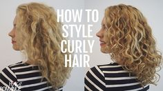 How to style curly hair for frizz free curls - Video tutorial