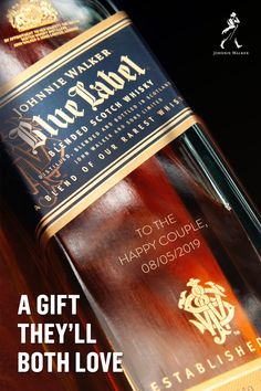 For a unique wedding gift, look no further than a personalized bottle of Johnnie Walker Blue Label, blended from our rarest whiskies. The Legacy List 2019 High Street Wedding Dresses, Cute Wedding Dress, Best Wedding Dresses, Boho Wedding, Wedding Reception, Wedding Gowns, Bridesmaid Dresses, Wedding Ideas, Trendy Wedding