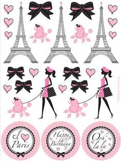 These Party in Paris stickers are great for favors or decorations for the party…