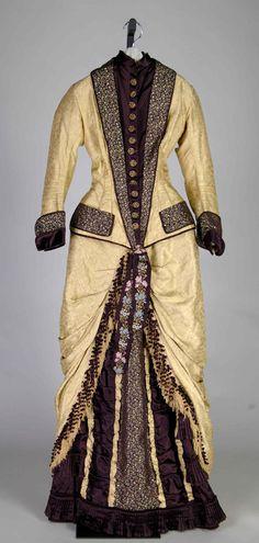 Ephemeral Elegance | Silk Damask Dinner Dress, ca. 1877 Mrs. S. E....
