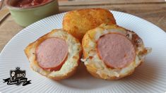 Bolinho de Batata com Salsicha - Ana Claudia na Cozinha