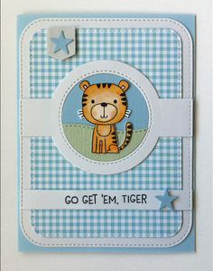 Card Critters Tiger MFT Lions and Tigers Die-namics, MFT Blueprints 31 Die-namics, MFT Tiny check paper pad #mftstamps MFT1066 - JKE