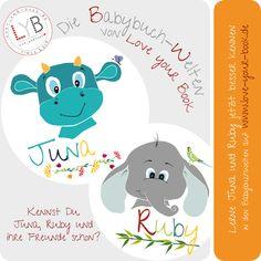 Lerne Juna und Ruby kennen auf den Babybuchseiten von Love your Book! Treffe ihre Freunde und erfahre mehr über ihre Hobbys und vieles mehr! Snoopy, Love You, Books, Fictional Characters, Hobbies, Boyfriends, Learning, Livros, Je T'aime