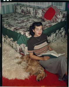 Gail Russell. Look at that awesome daybed and those lambs wool throw rugs!!