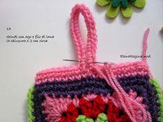 ElenaRegina wool: Portatutto fiorellosi Fiorelli, Crochet Handbags, Diy Crochet, Knitted Hats, Projects To Try, Crochet Patterns, Diy Crafts, Colours, Wool