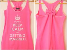 I cant Keep Calm I'm getting Married Bow Tank Top by personTen, $35.00