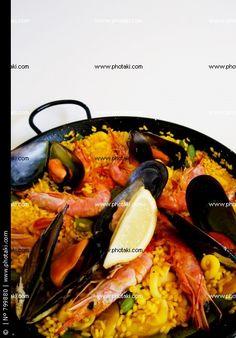 Spanish dishes, paella rice