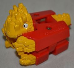 Food Transformers McDonald's Dino French Fries Toy Figure 1990 Take A Look! - http://hobbies-toys.goshoppins.com/fast-food-cereal-premium-toys/food-transformers-mcdonalds-dino-french-fries-toy-figure-1990-take-a-look/