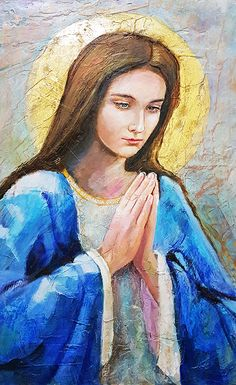 Blessed Mother Mary, Blessed Virgin Mary, Religious Icons, Religious Art, Queen Of Heaven, Mama Mary, Sainte Marie, Mary And Jesus, Holy Mary