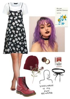 """""""Hope 2018 treats y'all well"""" by abbykrysta ❤ liked on Polyvore featuring Miss Selfridge, Dr. Martens and Simon & Schuster"""
