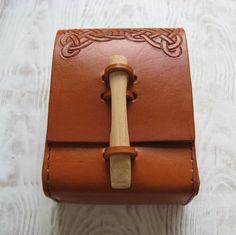 Celtic Leather MTG Deck Case by HopperLeather on Etsy, $88.72