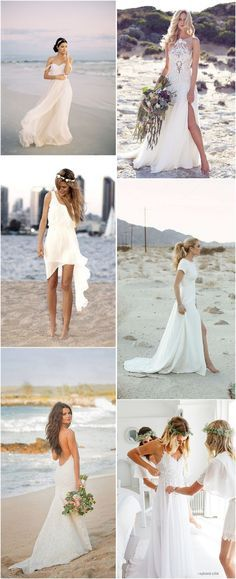 Beach Wedding Dresses Ideas to Stand Out!The Effective Pictures We Offer You About Beach Wedding Dress A quality picture can tell you many things. You can find the most beautiful pictures that can be presented to you about Beach Wedding Dress brides Trendy Wedding, Perfect Wedding, Dream Wedding, Wedding Day, Elopement Wedding, Elopement Dress, Beach Elopement, 2017 Wedding, Hawaii Wedding