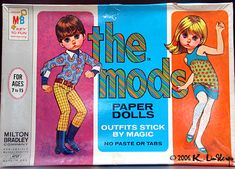 "Big Eyes, ""The Mods"" paper dolls box, Lee Margaret Kane, How To Age Paper, Retro Toys, 1960s Toys, Vintage Paper Dolls, Eye Art, Big Eyes, Childhood Memories, Art Dolls"